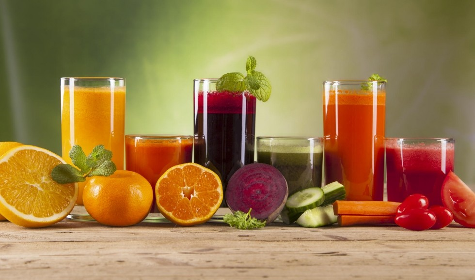 Sumos de frutas e vegetais